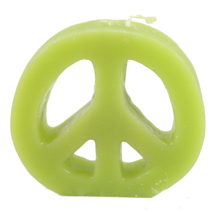 Bulk peace sign candles hand poured in Woodstock, NY. - Candlestock.com