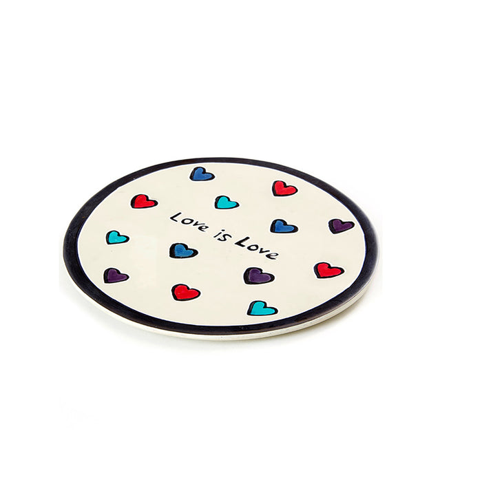 Soapstone Love Is Love Candle Tray