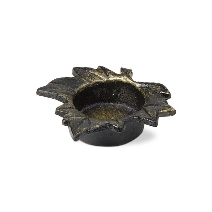 Cast Iron Leaf Tea Light Candle Holder