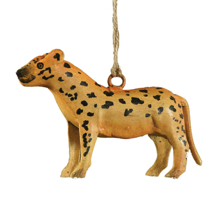 Metal Cheetah Ornament