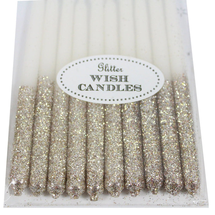 Metallic Glitter Birthday Candles - Candlestock.com