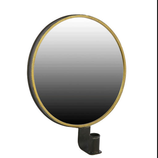 Black and Gold Mirror Sconce Taper Candle Holder