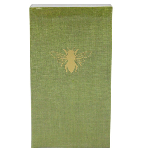 Moss Green With Gold Beehive And Bee Matches - Candlestock.com