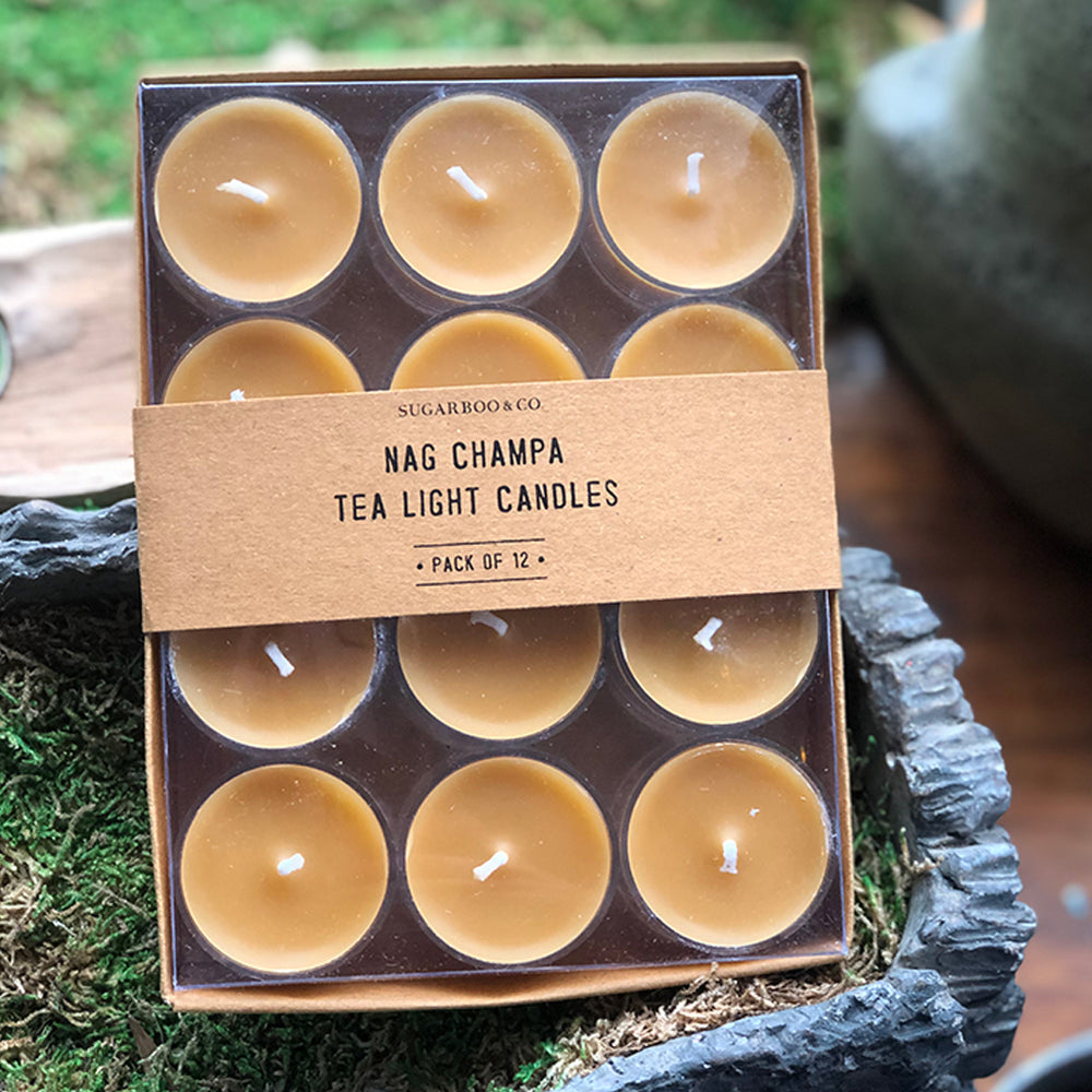 Nag Champa Scented Tea light Candles - Candlestock.com