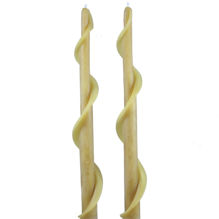 Beeswax Single Spiral Taper Candle