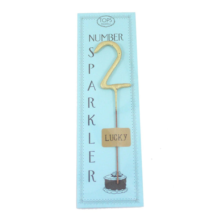 Gold Number Celebration Sparklers - 4 inches - Candlestock.com