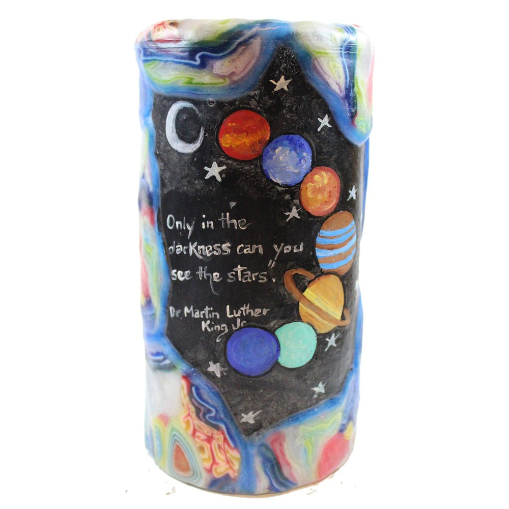 "Quote Pillar Candle - ""Only in the darkness can you see the stars."" - Dr. Martin Luther King Jr. - Candlestock.com"