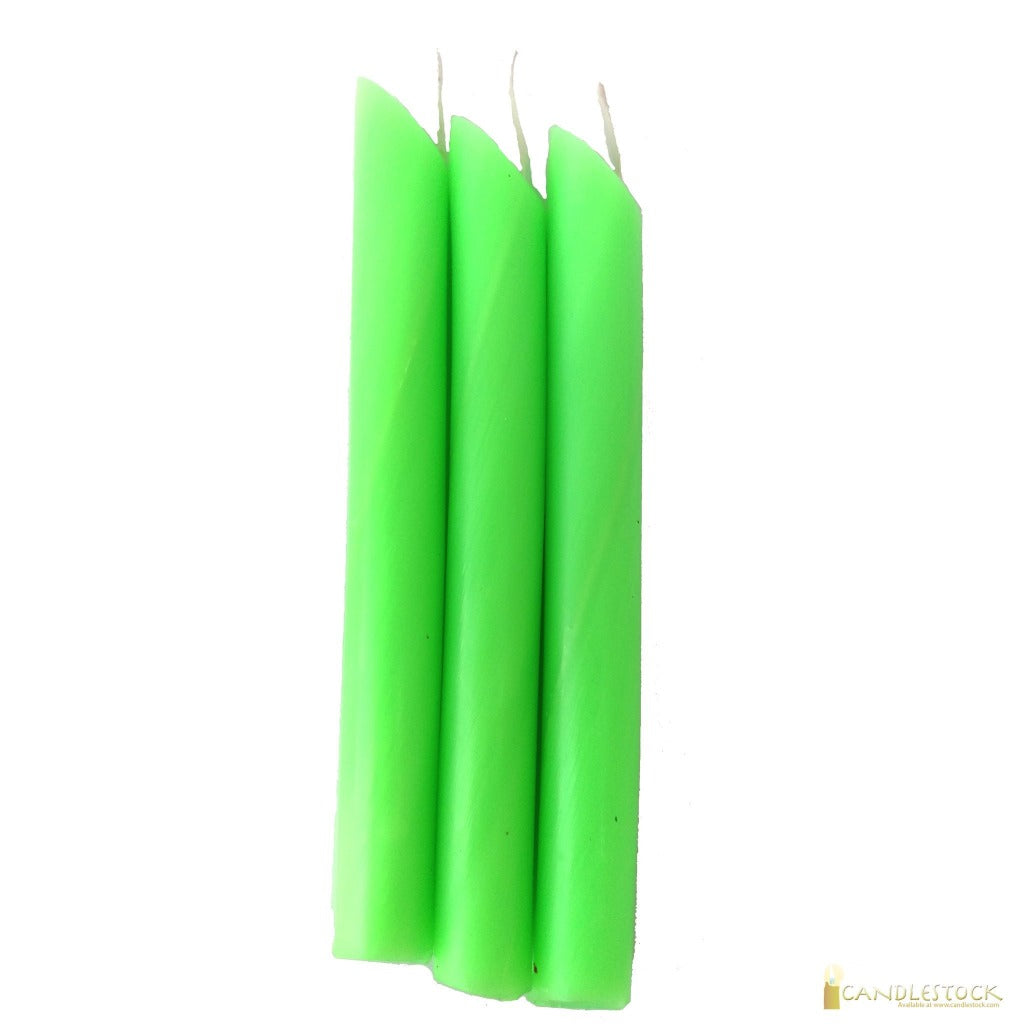 Pastel Green Drip Candle 50 Pack - Candlestock.com