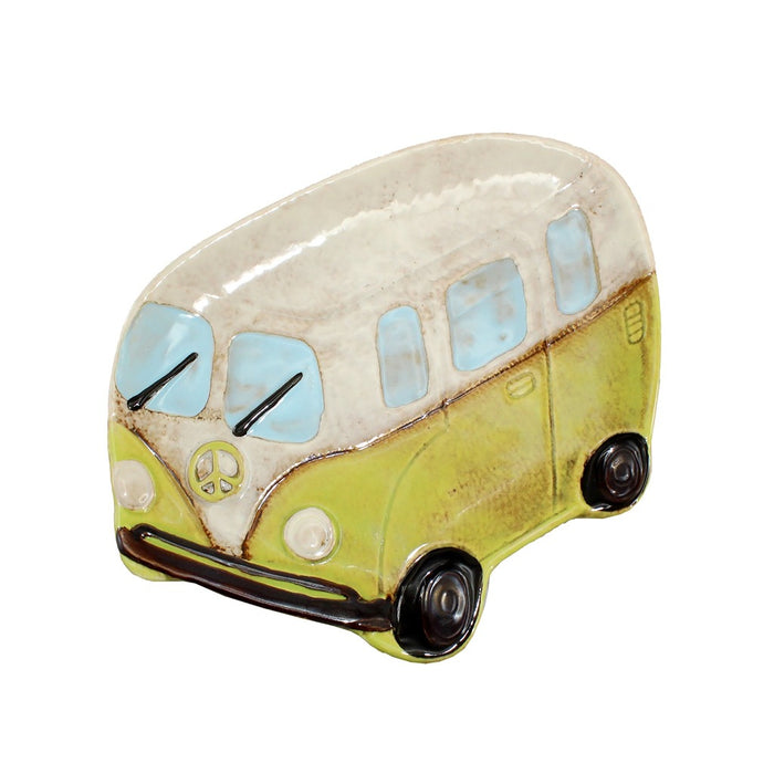 Ceramic Peace Van Candle Tray