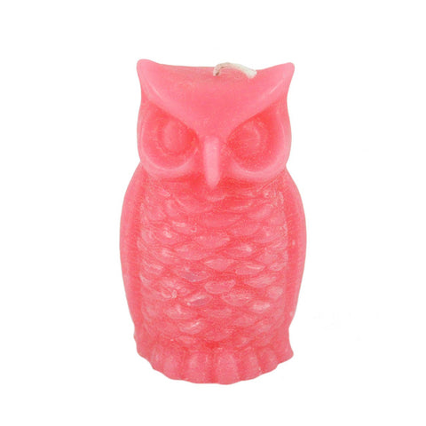 Colorful Owl Candle - Candlestock.com