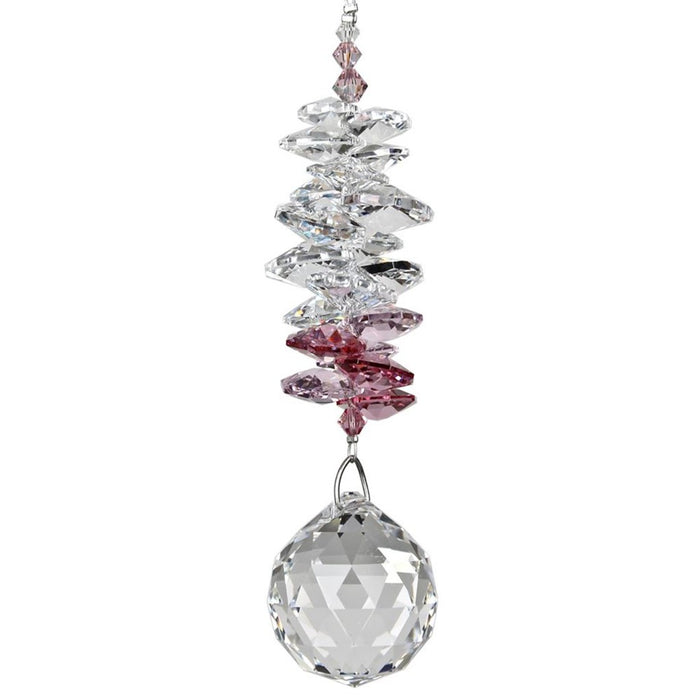 Pink Crystal Grand Cascade Suncatcher