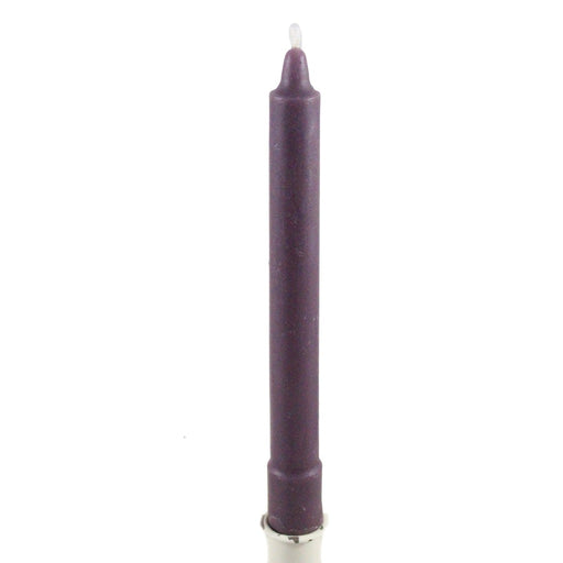 Beeswax Colonial Style Taper Candle Plum Purple - Candlestock.com