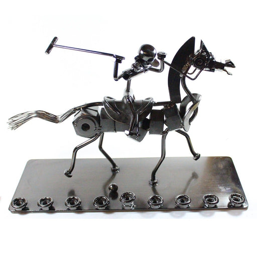 Hardware Polo Player Menorah - Candlestock.com