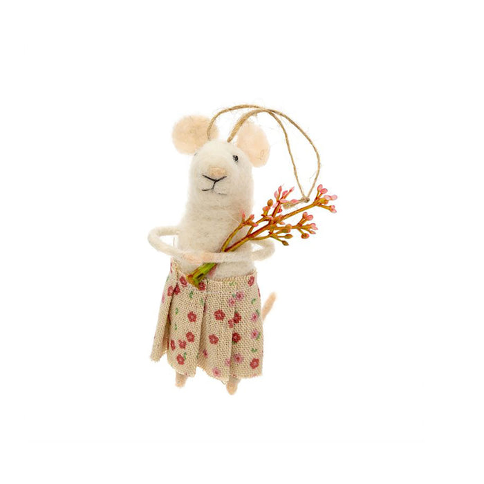 Posy Mouse Ornament