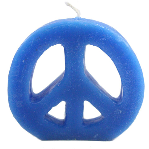 Colorful Peace Sign Candle - Candlestock.com