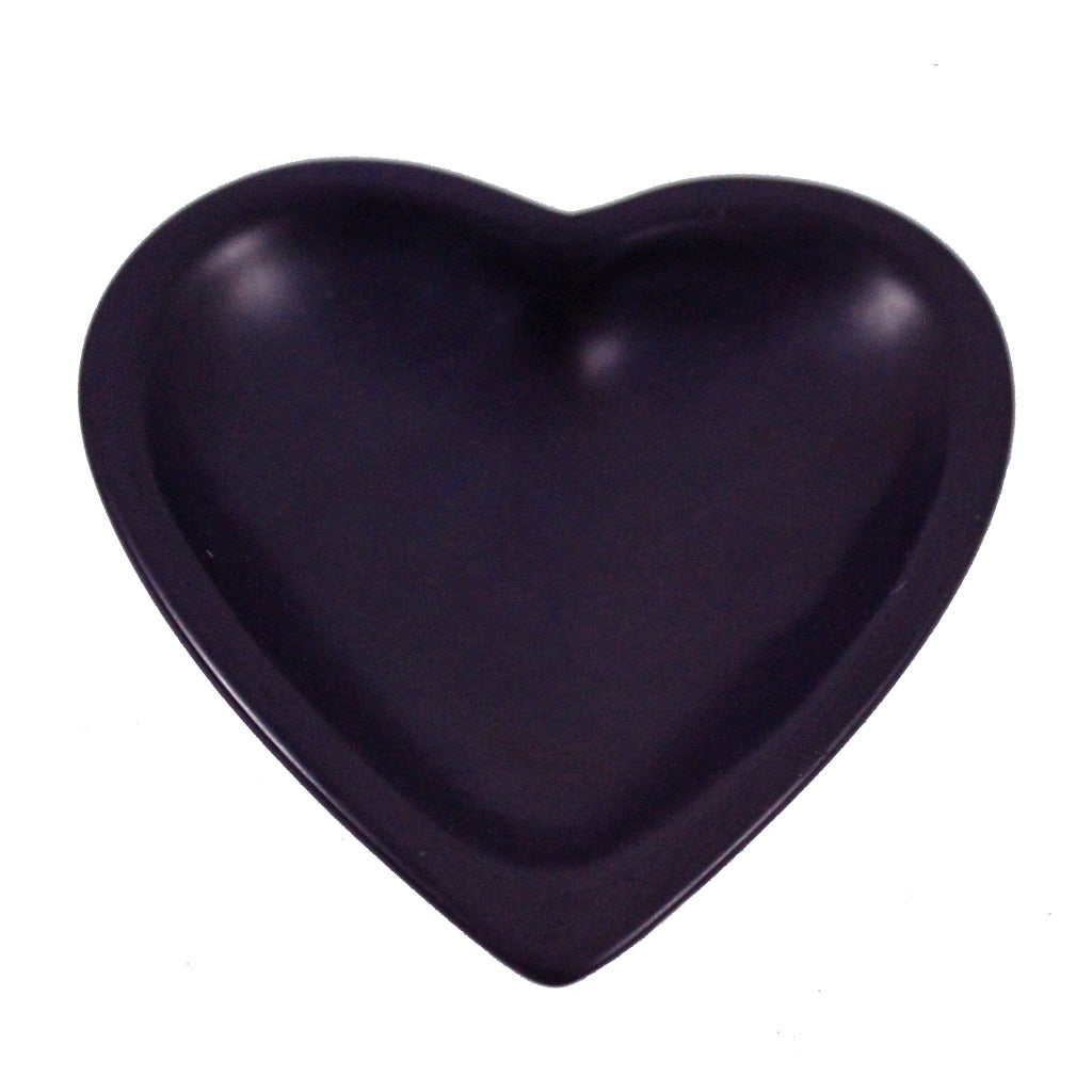 Soapstone Purple Heart Candle Tray - Candlestock.com