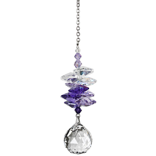 Purple Crystal Ball Cascade Suncatcher