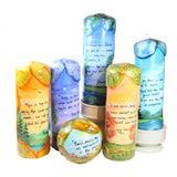 "Quote Pillar Candle - ""Be still, and know that I am God"" Psalm 46:10 - Candlestock.com"