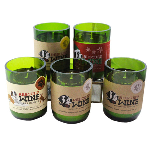 Rescued Wine Scented Jar Candles - Candlestock.com