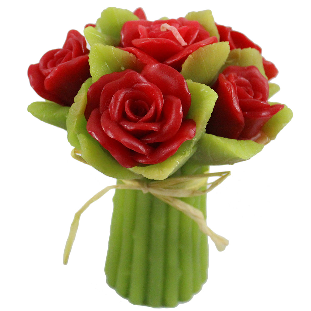 Red Rose Bouquet Candle - Candlestock.com
