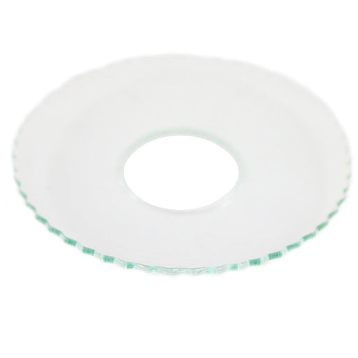 Bobeche Clear Glass With Ridged Rim - Candlestock.com
