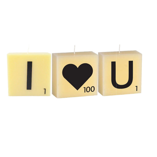 Scrabble Candle Love-Heart Bundle