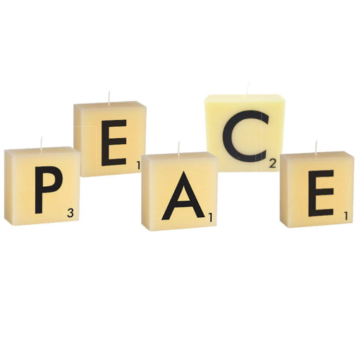 Scrabble Candle Peace Bundle