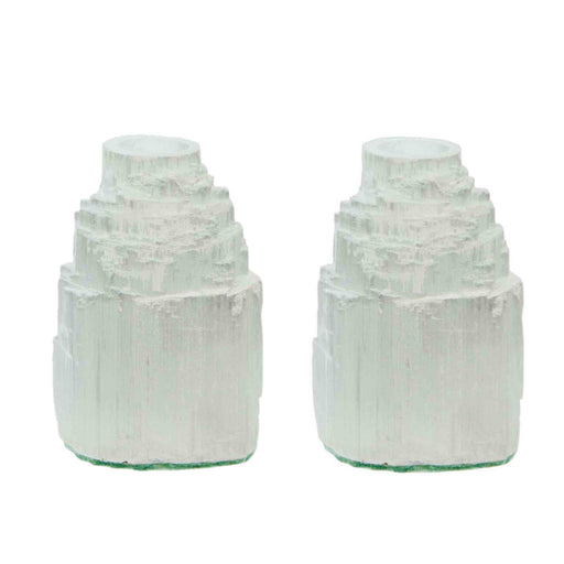 Selenite Half Inch Taper Candle Holder