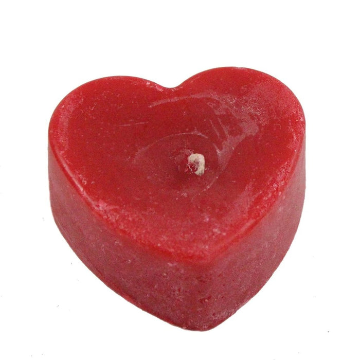 Beeswax Flat Heart Candle - Candlestock.com