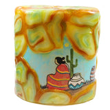 Painted Oval Candle - Southwestern Scene - Candlestock.com