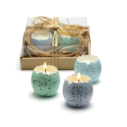 Speckled Easter Egg In Nest Candle