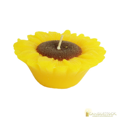 Sunflower Floating Candle - Candlestock.com