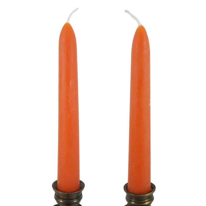 Beeswax Rounded Top Taper Candle Pair Sunspot - 6 inch Dripless Taper Candle Pair - Candlestock.com