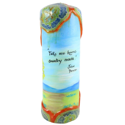"Quote Candle - ""Take me home, country roads"" John Denver - Candlestock.com"