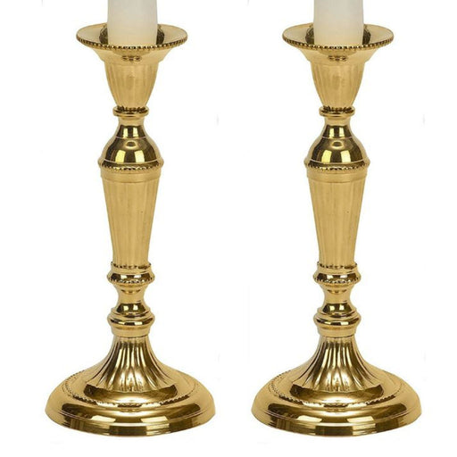 Brass Taper Candle Holder - 7 Inches