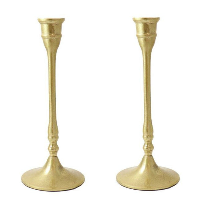 Brass Finished Taper Candle Holders