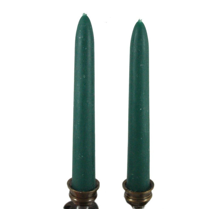 Beeswax Rounded Top Taper Candle Pair Teal - Candlestock.com