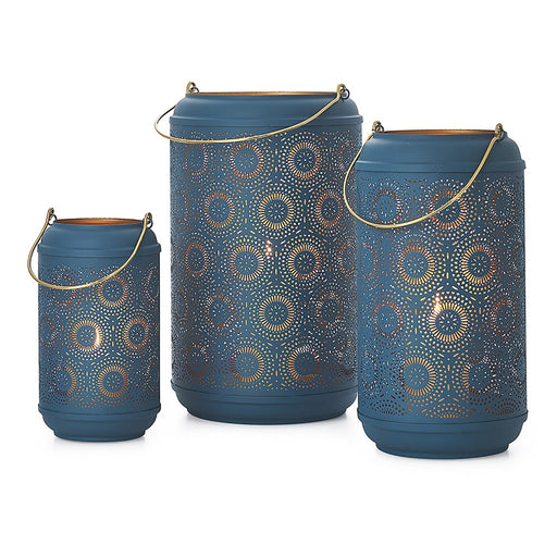 Blue Safir Medallion Candle Lantern