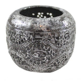 Silver Antiqued Metal Tea Light Candle Holder - Candlestock.com