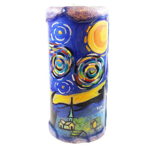 Van Glow Starry Night Pillar Candle - 8 inches - Candlestock.com