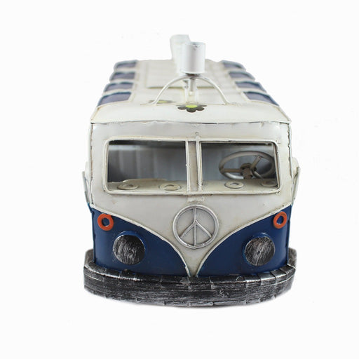 Blue Metal VW Bus Menorah