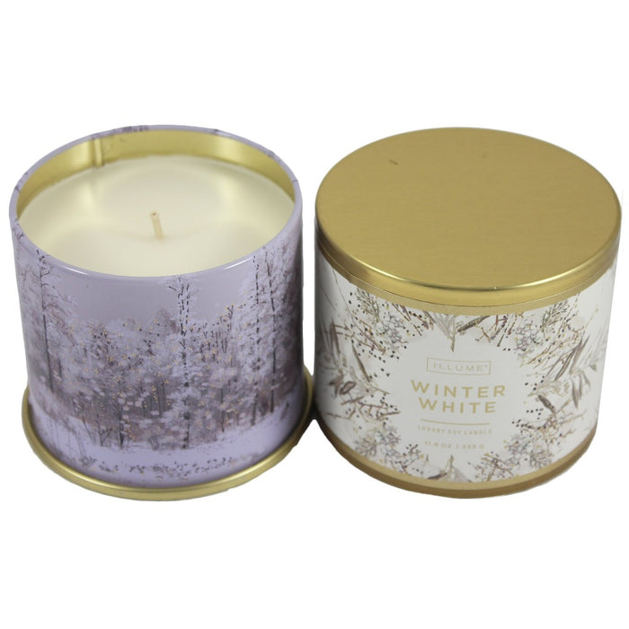 Illume Winter White Scented Soy Wax Jar Candle. Winter fragrances. - Candlestock.com