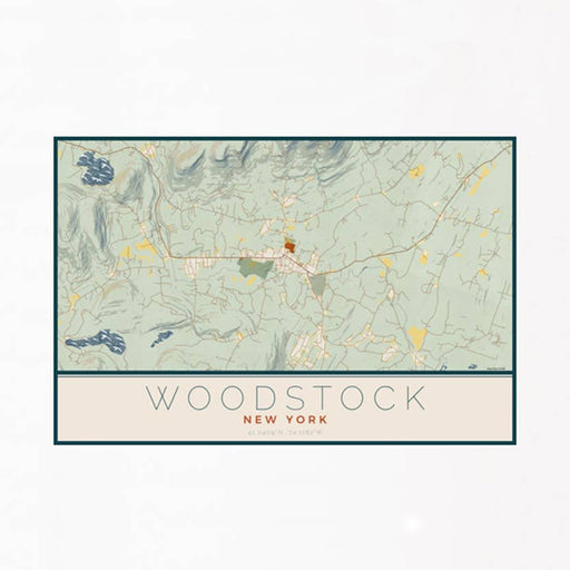 Woodstock Woodblock Map