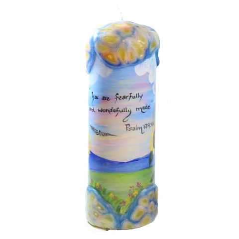 "Quote Candle - ""You are fearfully and wonderfully made"" Psalm 139:44"