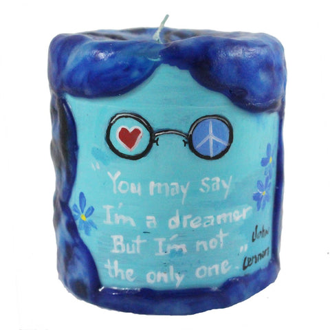 """You may say I'm a dreamer. But I'm not the only one."" - John Lennon - 4X4 - Candlestock.com"