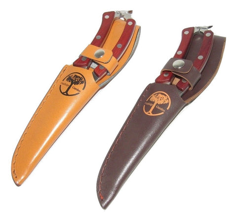 Pruning Shears - All Purpose Professional Shears/Scissors - Used By Professionals - (With OX Leather Sheath)