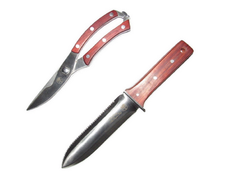 Hori Hori Knife and Pruning Shears Gardening Tool Set The Perfect Garden Knife and Pruner Set By Oakridge Garden Tools