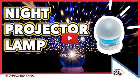 Self Rotating Constellation Night Projector Lamp Bring