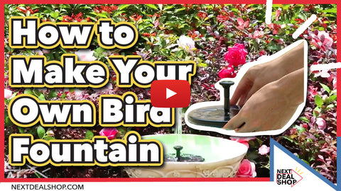 Solar Powered Easy Bird Fountain Kit   Great Addition To Your Garden! U2013  Next Deal Shop