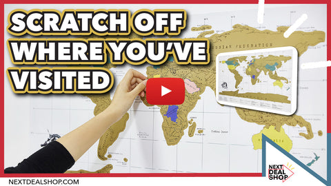 World Travel Scratch Map Show Off Your Travel Footprint